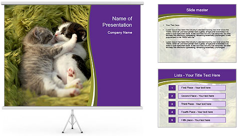 Cuddling Kittens PowerPoint Template