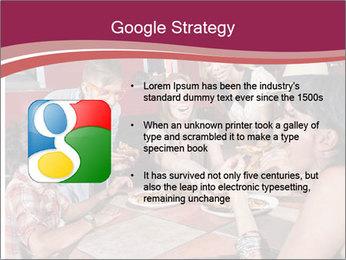 Friends At Restaurant PowerPoint Templates - Slide 10