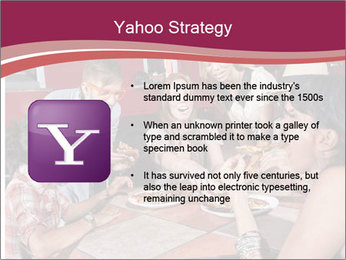 Friends At Restaurant PowerPoint Templates - Slide 11