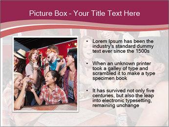 Friends At Restaurant PowerPoint Templates - Slide 13