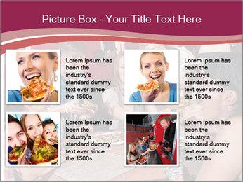 Friends At Restaurant PowerPoint Templates - Slide 14