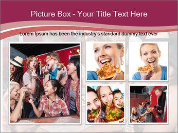 Friends At Restaurant PowerPoint Templates - Slide 19