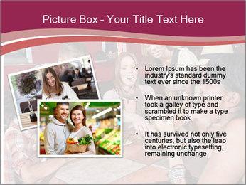 Friends At Restaurant PowerPoint Templates - Slide 20