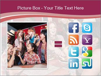 Friends At Restaurant PowerPoint Templates - Slide 21