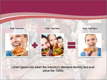 Friends At Restaurant PowerPoint Templates - Slide 22