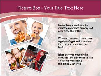 Friends At Restaurant PowerPoint Templates - Slide 23