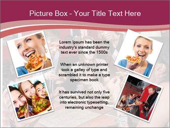Friends At Restaurant PowerPoint Templates - Slide 24