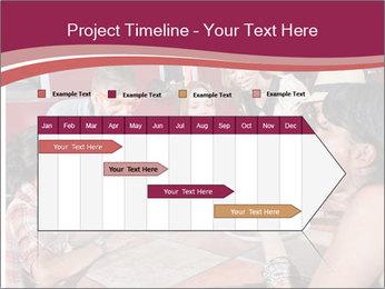 Friends At Restaurant PowerPoint Templates - Slide 25