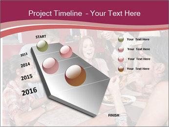 Friends At Restaurant PowerPoint Templates - Slide 26