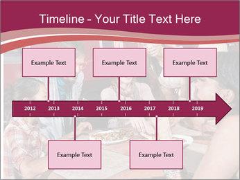 Friends At Restaurant PowerPoint Templates - Slide 28