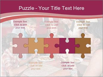 Friends At Restaurant PowerPoint Templates - Slide 41