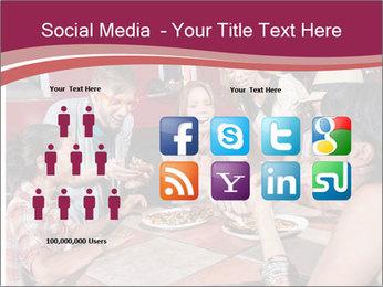 Friends At Restaurant PowerPoint Templates - Slide 5