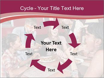 Friends At Restaurant PowerPoint Templates - Slide 62