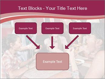Friends At Restaurant PowerPoint Templates - Slide 70