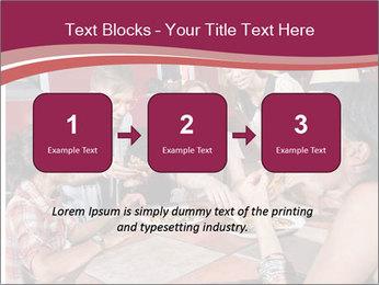 Friends At Restaurant PowerPoint Templates - Slide 71