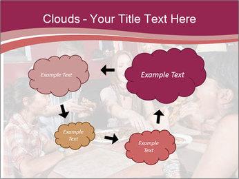 Friends At Restaurant PowerPoint Templates - Slide 72