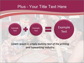 Friends At Restaurant PowerPoint Templates - Slide 75