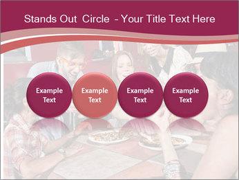 Friends At Restaurant PowerPoint Templates - Slide 76