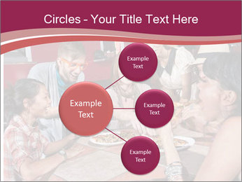 Friends At Restaurant PowerPoint Templates - Slide 79