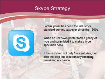 Friends At Restaurant PowerPoint Templates - Slide 8