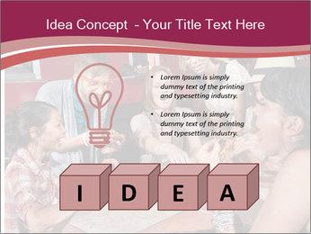 Friends At Restaurant PowerPoint Templates - Slide 80