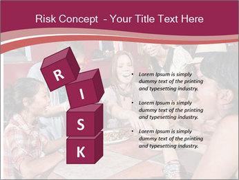 Friends At Restaurant PowerPoint Templates - Slide 81