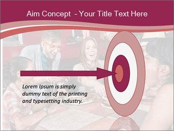 Friends At Restaurant PowerPoint Templates - Slide 83