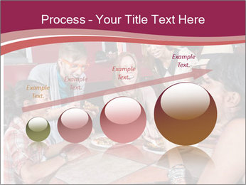 Friends At Restaurant PowerPoint Templates - Slide 87