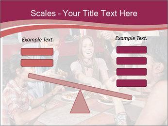Friends At Restaurant PowerPoint Templates - Slide 89