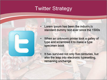 Friends At Restaurant PowerPoint Templates - Slide 9
