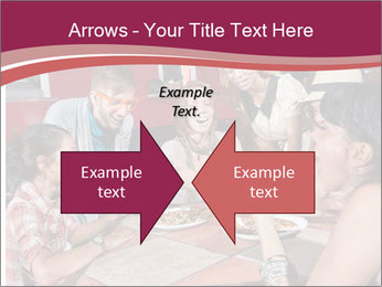 Friends At Restaurant PowerPoint Templates - Slide 90