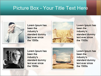 Woman Showing Camera With Fingers PowerPoint Templates - Slide 14