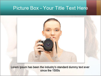 Woman Showing Camera With Fingers PowerPoint Templates - Slide 15