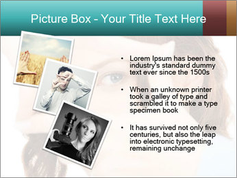 Woman Showing Camera With Fingers PowerPoint Templates - Slide 17