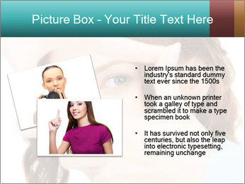 Woman Showing Camera With Fingers PowerPoint Templates - Slide 20