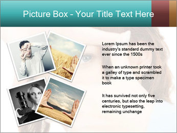 Woman Showing Camera With Fingers PowerPoint Templates - Slide 23