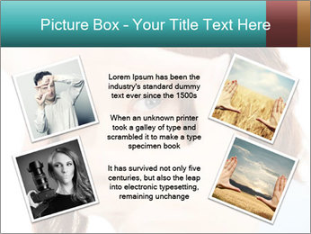 Woman Showing Camera With Fingers PowerPoint Templates - Slide 24