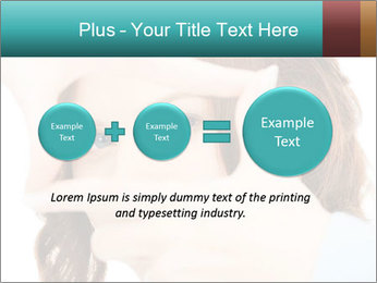 Woman Showing Camera With Fingers PowerPoint Templates - Slide 75