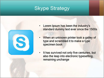 Woman Showing Camera With Fingers PowerPoint Templates - Slide 8