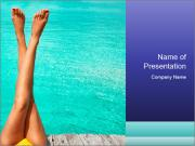 Tanned Female Legs PowerPoint Template