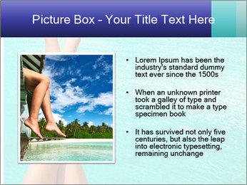 Tanned Female Legs PowerPoint Templates - Slide 13