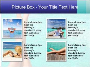 Tanned Female Legs PowerPoint Template - Slide 14