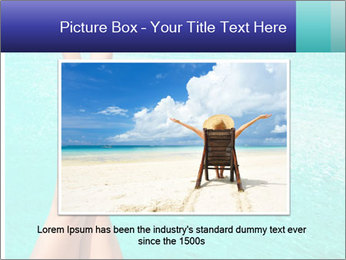 Tanned Female Legs PowerPoint Template - Slide 16