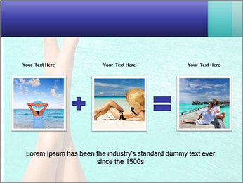 Tanned Female Legs PowerPoint Template - Slide 22