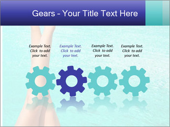Tanned Female Legs PowerPoint Template - Slide 48