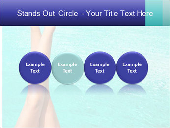 Tanned Female Legs PowerPoint Template - Slide 76