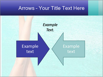 Tanned Female Legs PowerPoint Template - Slide 90