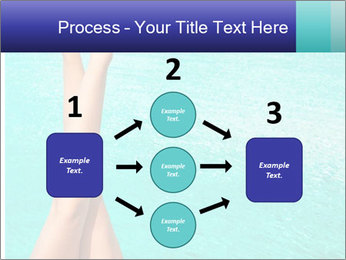 Tanned Female Legs PowerPoint Template - Slide 92