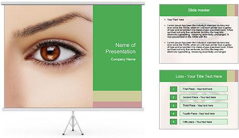 Female Eye PowerPoint Template