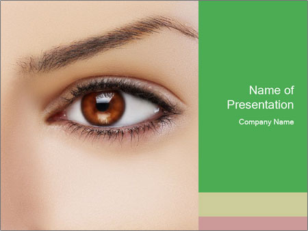 Female Eye PowerPoint Template